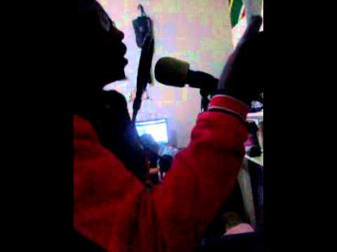 Jack Tlala recording his hit song UPCOMING LEGEND unreleased