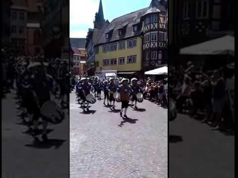 Fürstenhochzeit 2017 - Fanfarenzug Dertingen - Marsch durch Wertheim