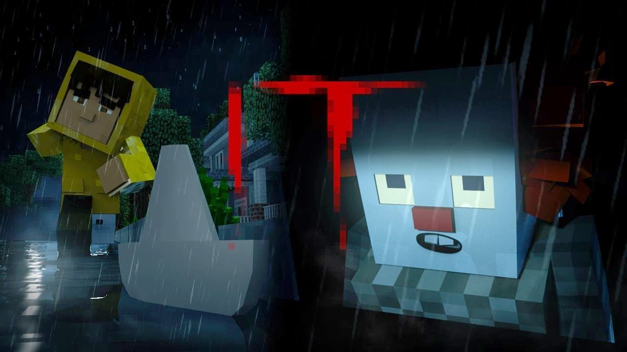 Animation Movie Wallpaper Minecraft Animation Georgie Meets Pennywise It Movie