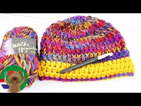 นิตติ้งหมวกไหมพรมใส่หน้าหนาว   ถักนิตติ้งง่ายๆและรวดเร็ว   DIY เสื้อผ้าใส่ฤดูหนาว