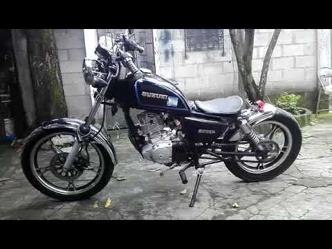 suzuki gn 125 bobber youtube. Black Bedroom Furniture Sets. Home Design Ideas