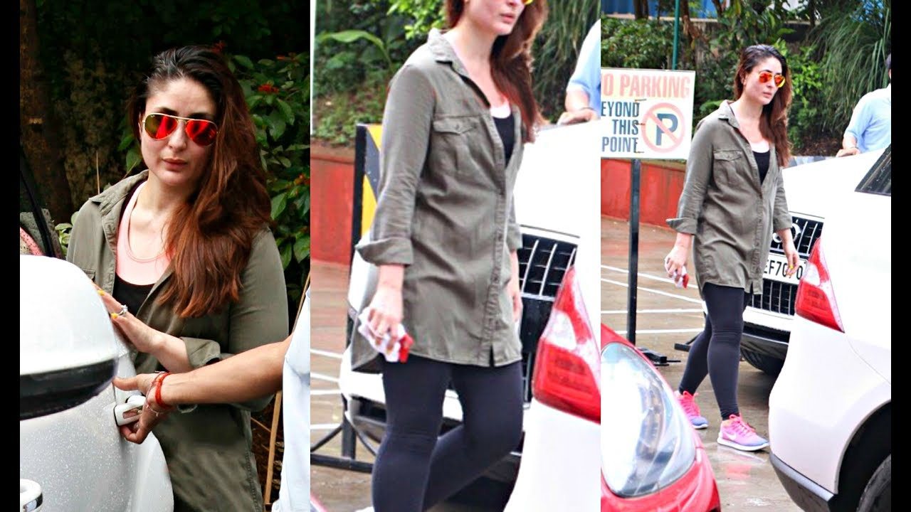 Kareena Kapoor Looks Hot In Kakhi Top And Black Jeans ...