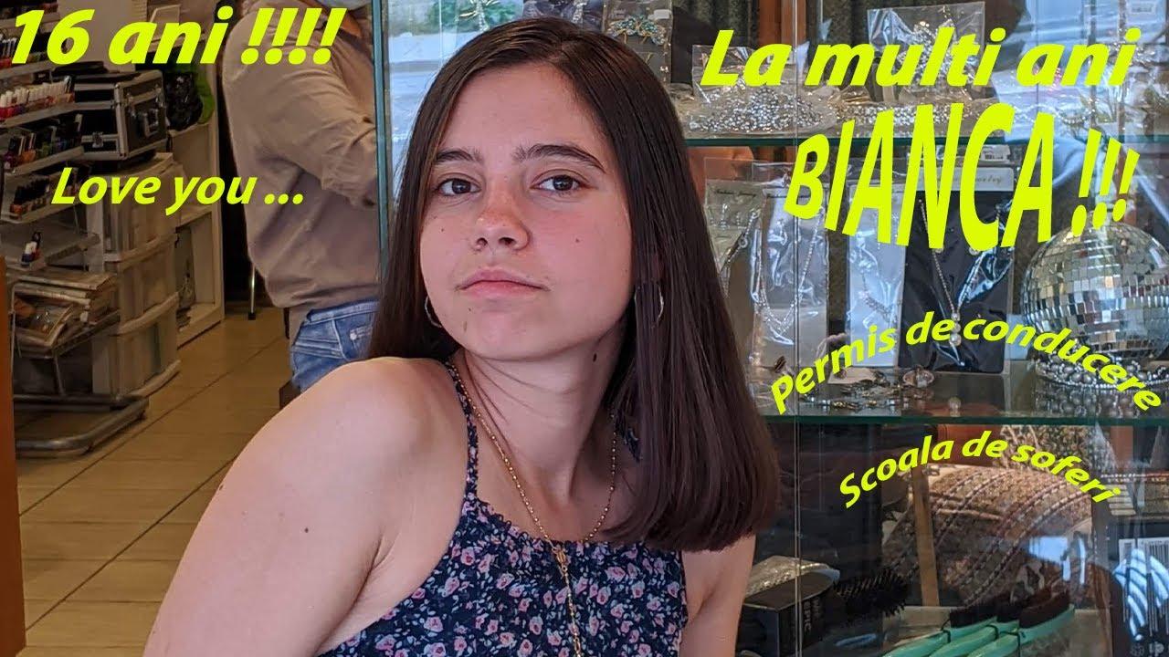 Bianca.... 16 ani !!❌La multi ani!❌Permis de conducere