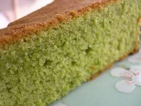 Bánh bông lan trà xanh – Matcha ( Green tea) cake