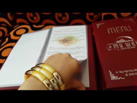 Ép ngũ logo menu nhà hàng. LH Ms Hoàng Xuân 0979889369