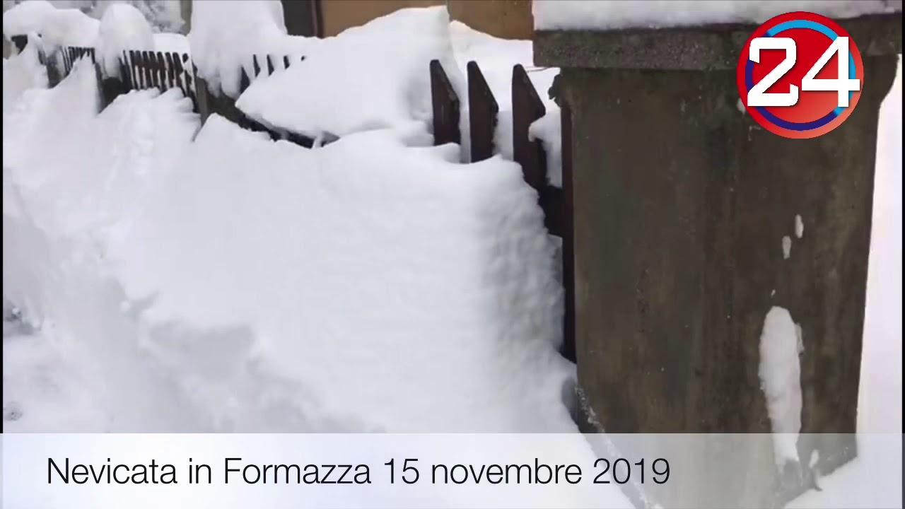 Oltre un metro di neve a Formazza e San Domenico