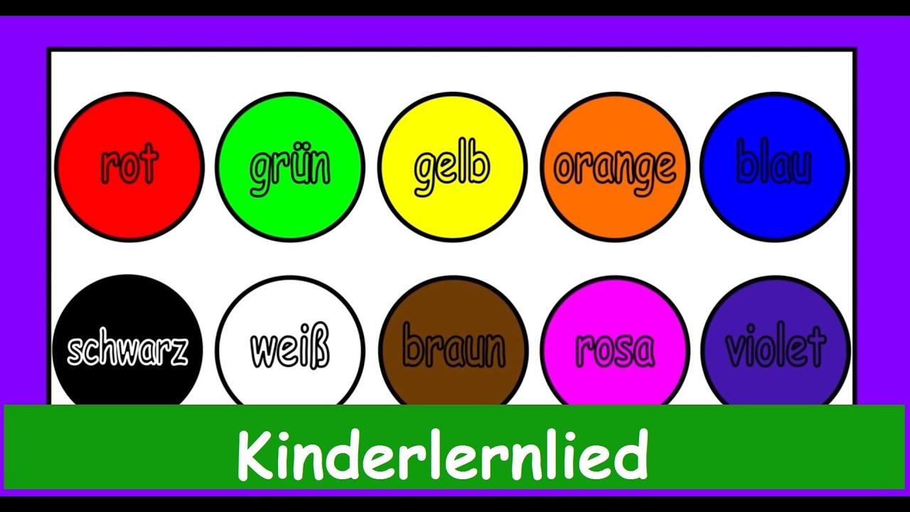 Der Farbenlieder Mix in Deutscher Sprache! Wir lernen die ...