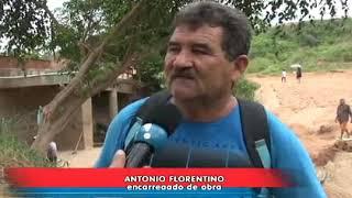 PEDREIRAS: Ponte do bairro Matadouro está passando por reforma.