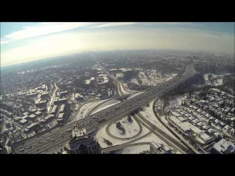 DJI Phantom  - Flying high over Toronto - North York : 401 and Yonge