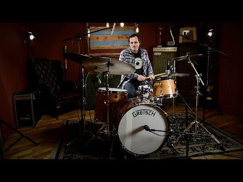 Gretsch Broadkaster 12/16/22 Heritage 3pc Drum Kit Demo