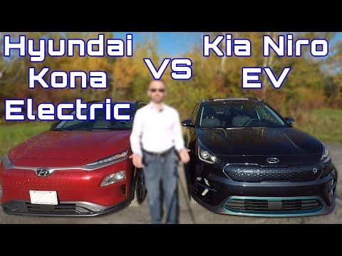 Hyundai Kona Electric versus Kia Niro EV