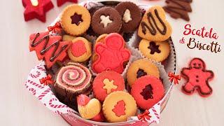 Scatola Latta Biscotti Natale.Scatola Biscotti Di Natale Di Pasta Frolla Un Impasto Per Mille Forme Idea Regalo Di Natale Youtube