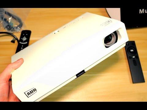 Самый Яркий Проектор AUN 3LCD 2800 люмен Андроид Система высокое разрешение экрана