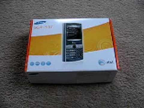 Samsung Epix SGH-i907 Unboxing