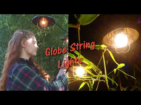 CLEAR GLOBE STRING LIGHTS💥 OXYLED OUTDOOR LIGHTS 💥 PATIO DECK GARDEN REVIEW 👈