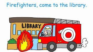 【幼児から】火事だ。A fire broke out. 消防士さんごっこ 英語で知育 右脳開発 歌で覚える英語 thumbnail