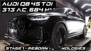 Чип-тюнинг Audi Q8 45 TDI с замерами и настройкой на мощностном стенде в Reborn Technologies.