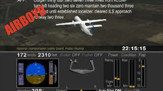 Colgan Flight 3407 NTSB Animation