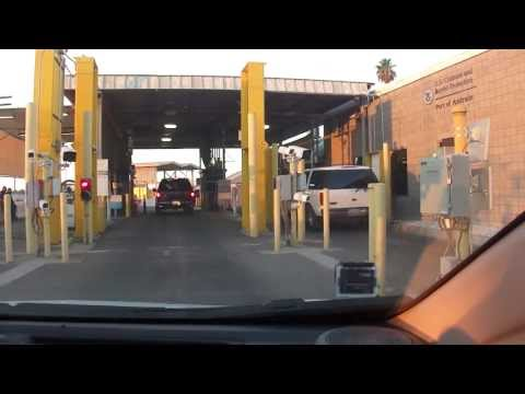 USA Border Crossing, Secondary Inspection, Los Algodones, Mexico, Andrade, California
