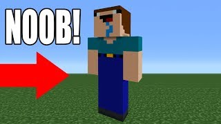 Minecraft: How To Make a Noob Statue