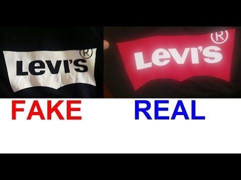 Real vs Fake Levi's T shirt. How to spot fake Levis tees.