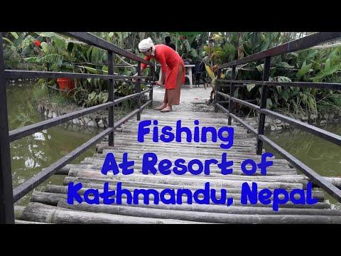Fishing At Resort Of Kathmandu, Nepal