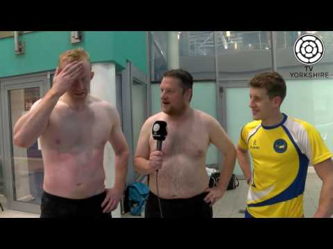 Darren and Derek try Olympic diving training