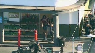 شاهد: الشرطة الأمريكية تعتقل رجلا مسلحا احتجز رهائن داخل متجر بلوس انجلس…