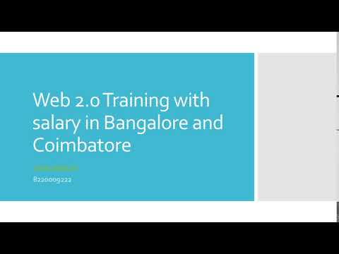 Web 2 0 Training with salary in Bangalore and Coimbatore-etcoe.in