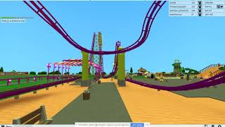 ROBLOX Theme Park Tycoon 2 Knott's Berry Farm vekoma Boomerang Recreation POV HD 2010 Roller Coaster