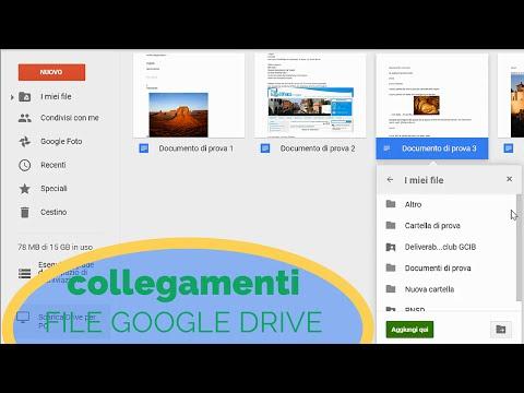 Google Drive: creare collegamenti di file...