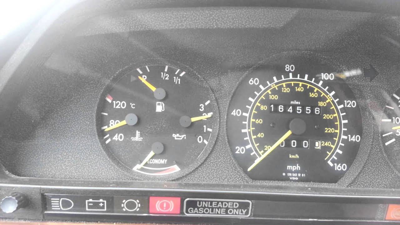 1985 Mercedes Benz 500 SEC AMG Euro idle issue fixed