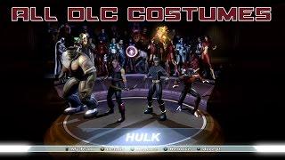 Marvel Ultimate Alliance - All 8 DLC Costumes Unlocked