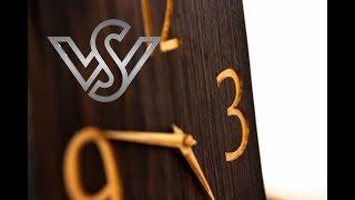 building a live edge gold clock made of bog oak wood part 2