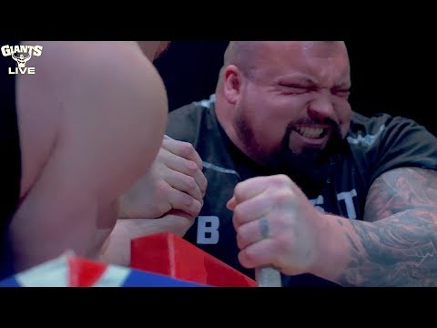 Strongman Arm Wrestle - Eddie 'The Beast' Hall  Vs Lalas (Giants Live Director Cut)