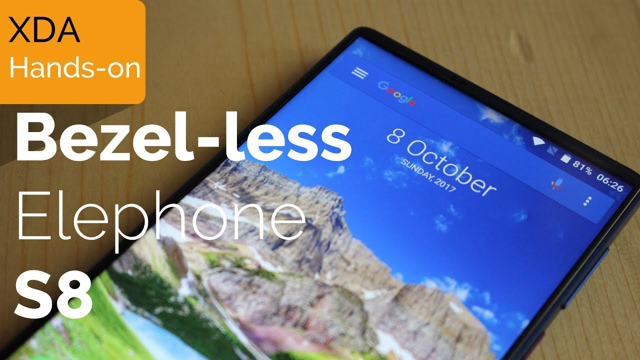 Hands-on with the Bezel-less Elephone S8