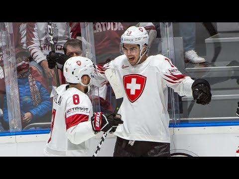 Nico Hischier Breaks Tie, Leads Team Switzerland To 3-1 Win Vs. Team Latvia -IIHF World Championship