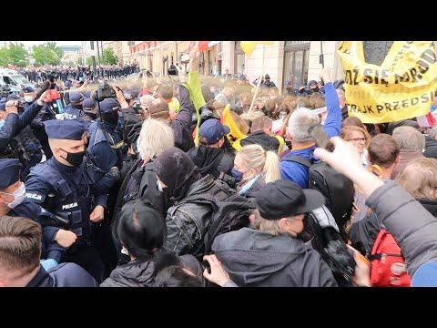Strajk Przedsiębiorców. Gaz na ulicach. Warszawa 16.05.2020