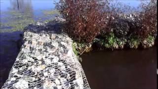 Gabiony na jeziorze