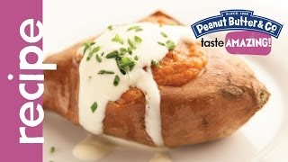 Twice Baked Peanut Butter Sweet Potatoes Recipe
