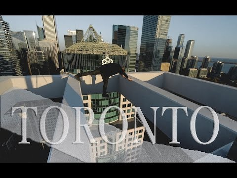 Crazy Daredevil Oleg Cricket Doing Stunts At The Top Of Toronto
