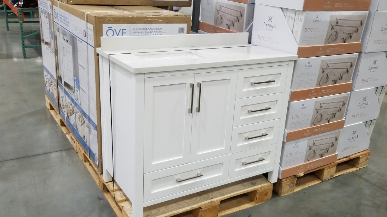 Costco Ove Decors 42 Inch Bathroom Vanity Set With Top And Sink 599 Youtube