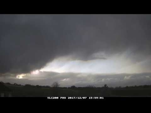 7th December 2017 timelapse, Irlam: Passage of Storm Caroline