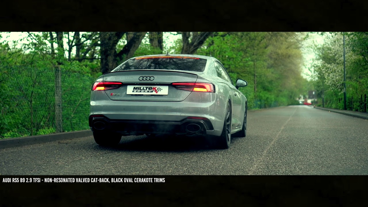 Audi RS4/RS5 B9 2 9 V6 TFSI - Milltek Sport Cat-back Non-Resonated (Valved)