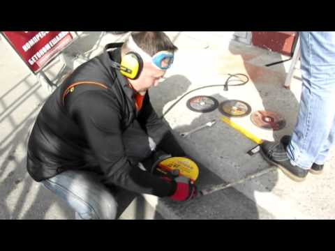 Видео тестирование отрезных кругов по металу ЗАК Луга Атаман Сталь