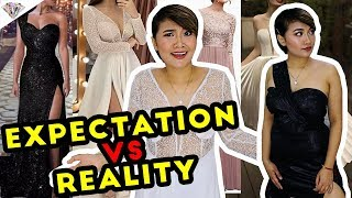 LAZADA GOWNS TRY ON HAUL | EXPECTATION VS REALITY | NAKAKALOKA! | MAE LAYUG