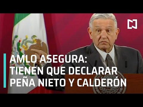 AMLO asegura que por denuncia de Lozoya tendrán que declarar Peña Nieto y Calderón - En Punto