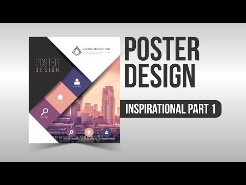 Inspirational Poster Design part 1 Illustrator Speed Art