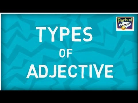 Types of Adjectives | Six Types | Parts of speech