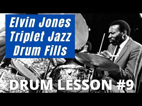 Elvin Jones Triplet Fills 9  Jazz Drum Lessons with JohnX